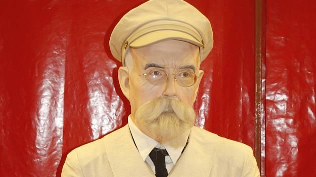 Voskový Masaryk z výstavy.