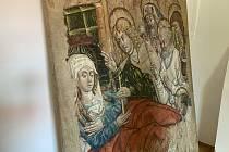 Vzácná freska od neznámého autora, která zdobila na hustopečském náměstí až do roku 1961 původní kostel svatého Václava, je zpět ve městě.
