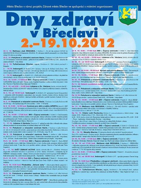 Program: Dny zdraví vBřeclavi