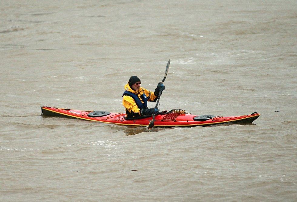 Rozvodněný rýn na začátku února.