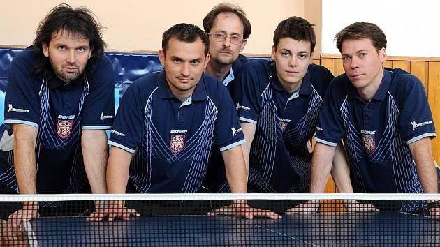 Vítězná sestava stolních tenistů Sokola Lanžhot A.