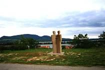 Slovanské věrozvěsty Cyrila a Metoděje bude ve Strahotíně připomínat nový pískovcový Památník Velké Moravy. Ten bude stát na místé s výhledem na Pálavu. Obec na jeho výstavbu vyhlásila veřejnou sbírku.