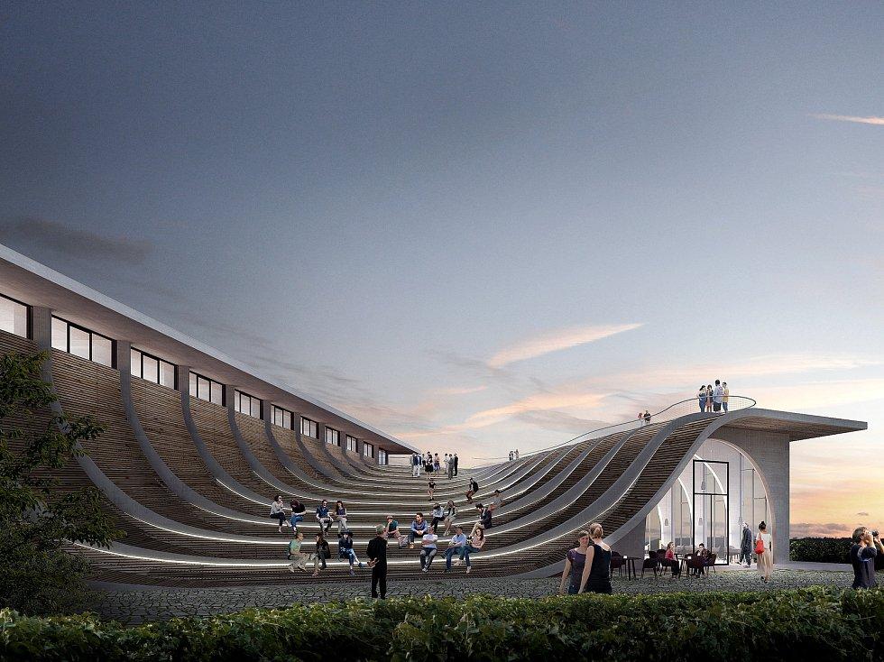 Vizualizace budoucího reprezentativního centra Vinařství Lahofer nad Dobšicemi.