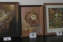 V úterý dražili lidé v budově břeclavského finančního úřadu obrazy zabavené dlužníkovi.