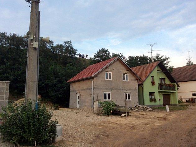 Sesuv půdy ve Strachotíně.