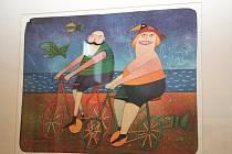 Výstava nazvaná Česká grafika v břeclavské Galerii 99.