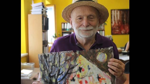 Karel Křivánek bude první, kdo vystaví svá díla v Galerii na schodech.