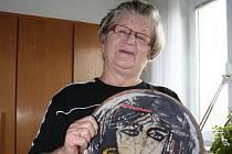 Známá břeclavská výtvarnice Eva Černohorská.