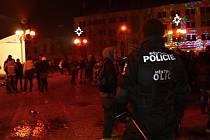 Oslava příchodu nového roku v centru Břeclavi.