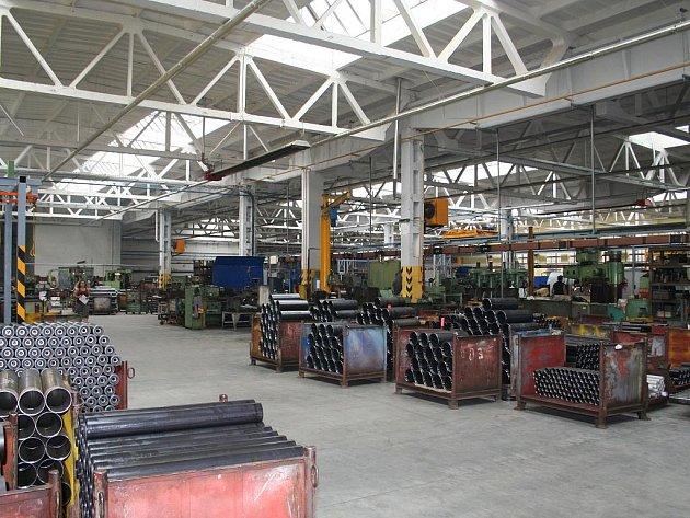 Jeden z provozu strojírenské firmy Tranza