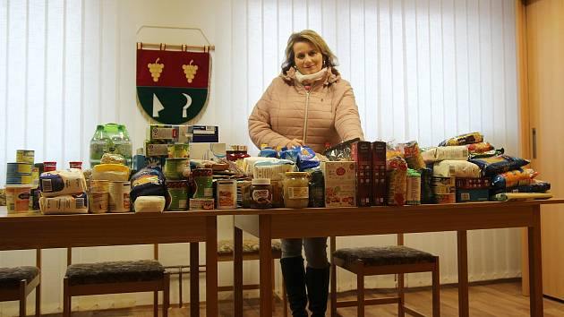 Do potravinové sbírky se zapojila i obec Morkůvky. FOTO: Brigita Petrašová