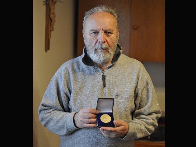 Oceněný sbormistr Rastislavu Jaroslav Martinásek.