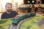 Modely vlaků, železnic a kolejiště vystavují až do neděle v břeclavském Dělnickém domě.