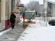Zima se nechce vzdát, Břeclavsko je opět pod sněhem.