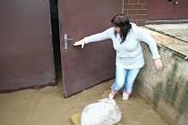 Voda zaplavila v Moravské Nové Vsi také sklepy.