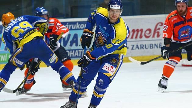 Břeclavští hokejisté neustáli tlak hodonínských Drtičů a v derby prohráli jasně 2:5.