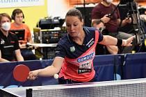 Finálová série mezi stolními tenistkami Hodonína a Břeclavi se rozhodne až v neděli.