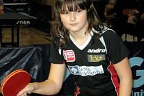 Mladá stolní tenistka MSK Břeclav Natálie Růžičková sbírá první úspěchy.