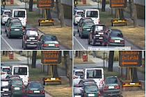 Řidička narážela v Břeclavi do aut. Nabourala tři, zastavil ji až přívěs u cesty.