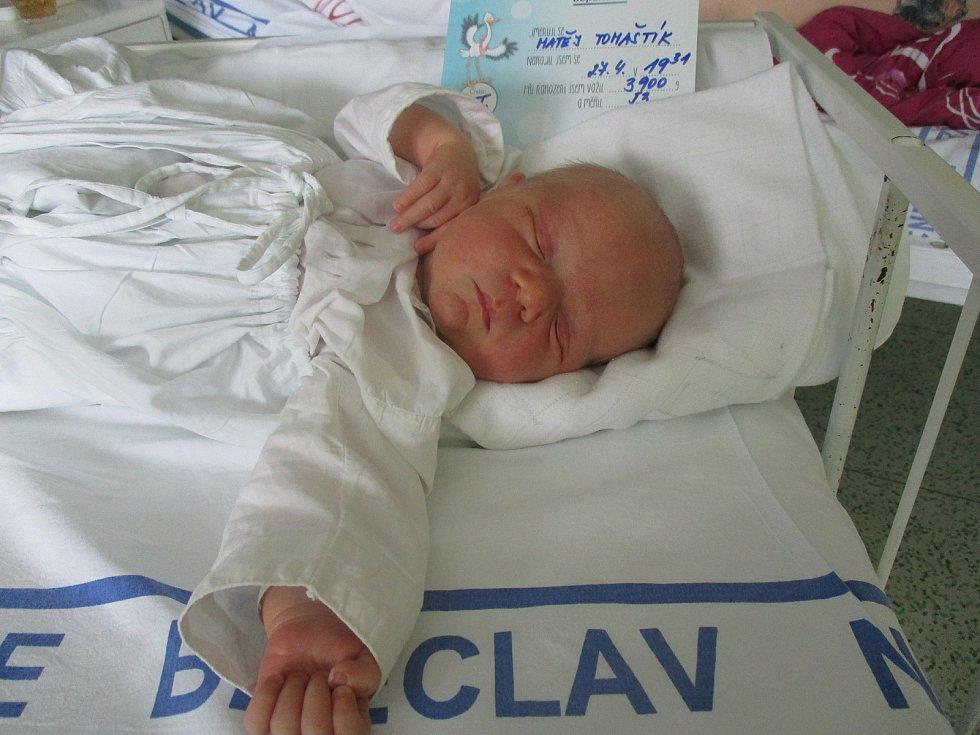 Matěj Tomaštík, Moravský Žižkov, 27. dubna 2020, 19.30, Nemocnice Břeclav, 53 centimetrů, 3900 gramů.
