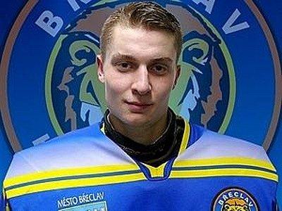 Brankář břeclavských Lvů Daniel Zelenka.