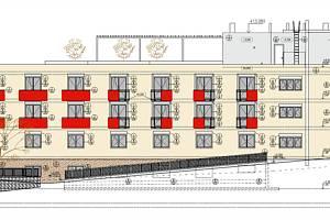 Vizualizace nového domova pro důchodce v Hustopečích.