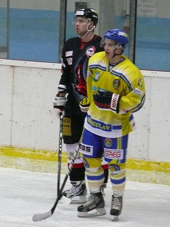 Po mnoha vyrovnaných zápasech břeclavští hokejisté konečně zlomili nepřízeň osudu a dokázali porazit brněnskou Techniku.