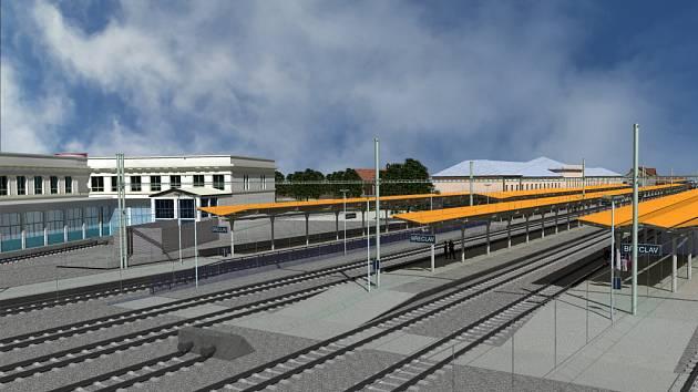 Plánované břeclavské nádraží.