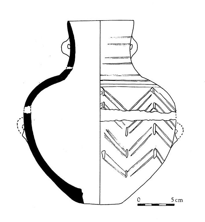 Tzv. želiezovská keramika z období neolitu z Turoldu.