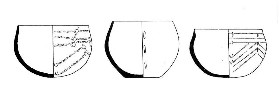 Tzv. lineární keramika z období neolitu z Turoldu.
