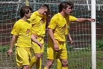 Fotbalisté Krumvíře pokračují v dobrých výsledcích i po postupu do vyšší soutěže.