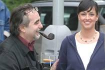 Tereza Brodśká s režisérem Kleinem