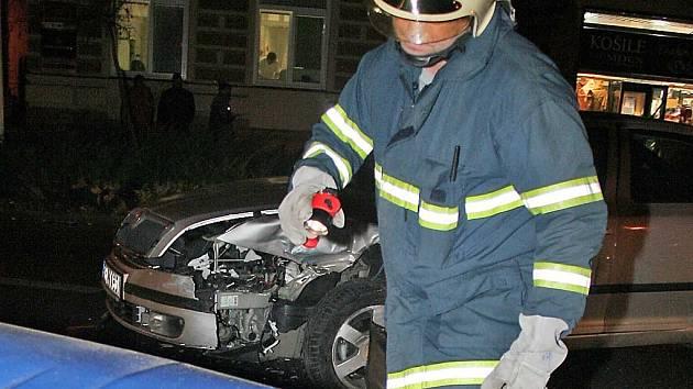 autonehoda v centru Břeclavi