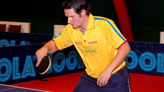 Dlouholetý hráč Hustopečí Petr Hoferik.