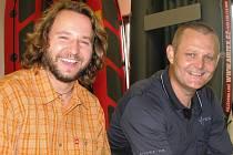 Miroslav Vodák a Zdeněk Rybnikář (vpravo) vyráží se syny za polární kruh.