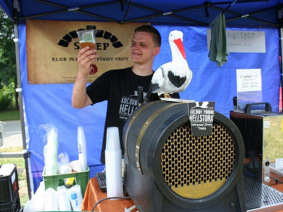 Na pivní minifest se do Břeclavi sjelo přes dvacet malých pivovarů. Lákali návštěvníky na různé druhy piva.