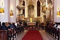 Koncert v kostele sv. Václava v Mikulově.