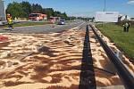 Na dálnici D2 u Lanžhota došlo k tragické nehodě. Řidič kamionu na místě zemřel