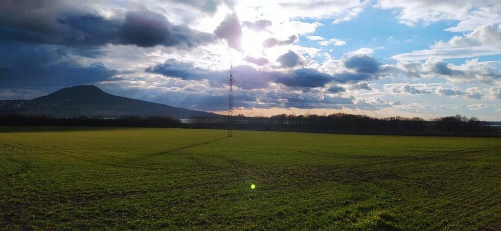 Krajina v okolí Šakvic.