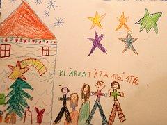 Školáci, kteří navštěvují družinu při znojemské základní škole v ulici Mládeže, kreslili, jak prožívají doma Vánoce.