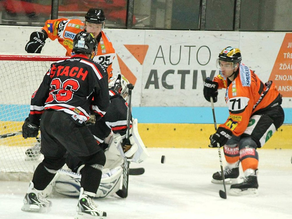 Znojemští Orli v utkání s Grazem.