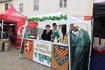 Už několik hodin před oficiálním zahájením Znojemského historického vinobraní začali vinaři s prodejem burčáku v centru Znojma.