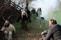 O čertech Krampusácích natáčel Gombár i v Rakousku.
