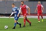Utkání 12. kola fotbalové FORTUNA:NÁRODNÍ LIGY mezi Znojmem a Pardubicemi.
