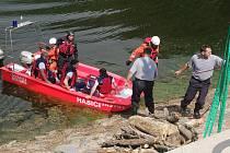 Záchranáři cvičili v okolí znojemské přehrady.