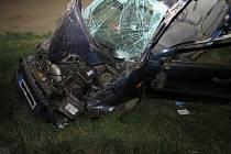 Vážným zraněním řidičky skončila v noci na pátek havárie Fordu nedaleko Znojma cestou na Chvalovice.