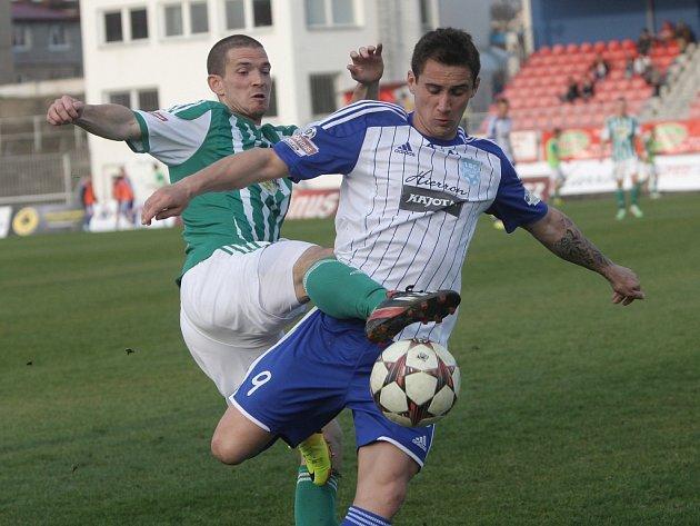 Znojemští fotbalisté v utkání 21. kola nejvyšší české soutěže na brněnském stadionu pouze remizovali 0:0 s Bohemians 1905.