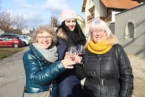 Prolnutí masopustního veselí a Putování po sklípcích zažili o víkendu obyvatelé a návštěvníci Dobšic.