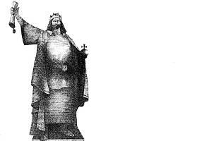 Návrh sochy od výtvarníka Petra Císařovského.