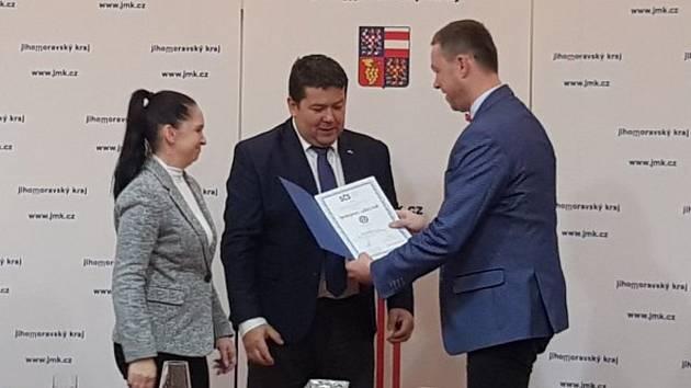 Z předávání Ceny spokojeného zákazníka zástupcům domova v Šanově.